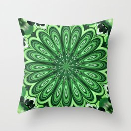 Mystery Green Puzzle Throw Pillow