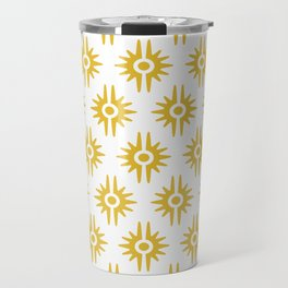 Mid Century Modern Bang Pattern 272 Must Yellow Travel Mug
