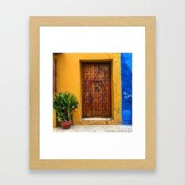 Door of Cartagena Colombia Framed Art Print