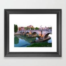 Ponte Sant'Angelo Framed Art Print