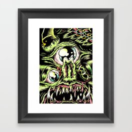 Big Monsterface Framed Art Print
