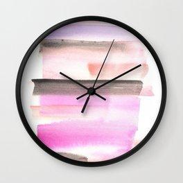 [170105] 3 Color Study Violet |Watercolor Brush Stroke Wall Clock