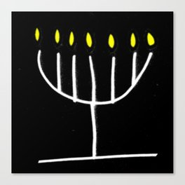 menorah,Hanukkah,jewish,jew,judaism,Festival ofLights,Dedication,jerusalem,lampstand,Temple Canvas Print