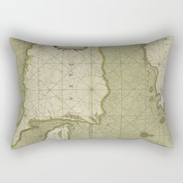 A large draught of the east end of JAVA and MADURA shewing the streights of BALLY Rectangular Pillow