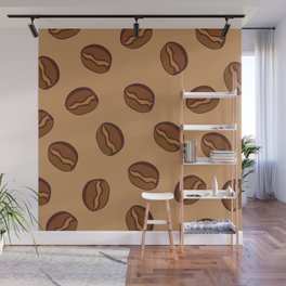 Pattern - Coffee Beans Wall Mural
