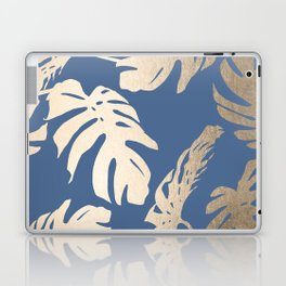 Simply Tropical Palm Leaves White Gold Sands on Aegean Blue Laptop & iPad Skin
