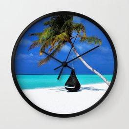 Maldives Island Paradise Landscape Wall Clock
