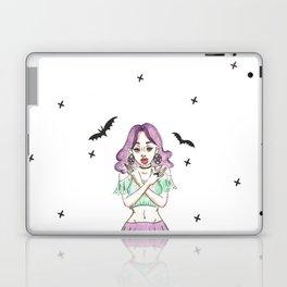 Gypsy Gothic Bat Girl - Lace Skirt Laptop & iPad Skin
