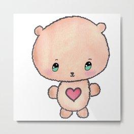 Cute Teddy Bear Metal Print