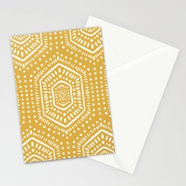 Boho Painted Soft Mustard Stationery Cards