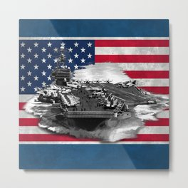 Nimitz Class Aircraft Carrier Metal Print