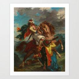 "Eugène Delacroix ""Greek horseman and an Ottoman Turk"" Art Print"