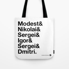 Russian Composers v2 Tote Bag