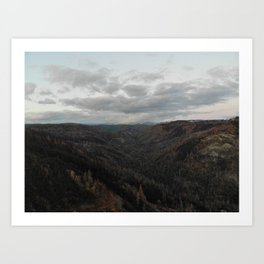 Upper West Branch of the Feather River Canyon post Camp Fire Art Print