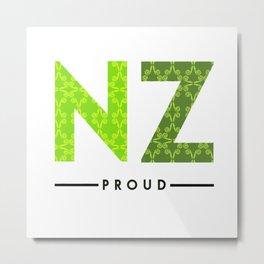 NZ PROUD Metal Print