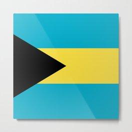 Bahamas flag Metal Print