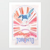 toronto Art Prints featuring Toronto by Sweep