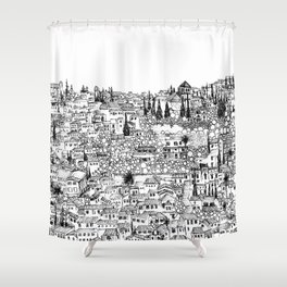 Albaicin View from the Alhambra, Granada, Spain Shower Curtain