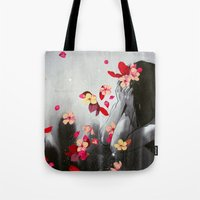 rush Tote Bags featuring Rush by Stasia B