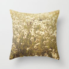 Spinning daisies Throw Pillow