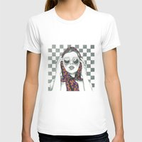 polka dot T-shirts featuring Vintage Polka Dot Beauty  by Lucy Schmidt Art