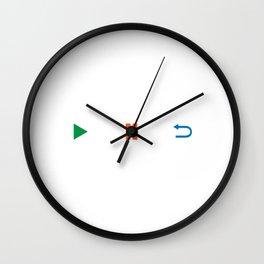 "Dance Shirt For Music Lovers ""123456 Play Pause Repeat"" T-shirt Design Musical Dancing Clubbing Dj Wall Clock"