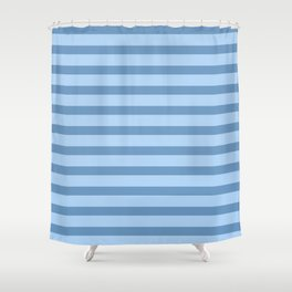 Baby Blue Stripes Shower Curtain