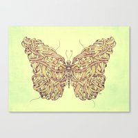 butterfly Canvas Prints featuring Butterfly by Mike Koubou