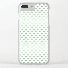 Dots (Forest Green/White) Clear iPhone Case