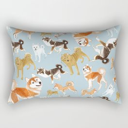 Japanese Dog Breeds Rectangular Pillow