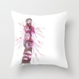 Totem F00le Throw Pillow