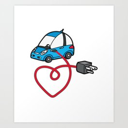 THE SILENCE OF THE FUTURE Electric Car Art Print