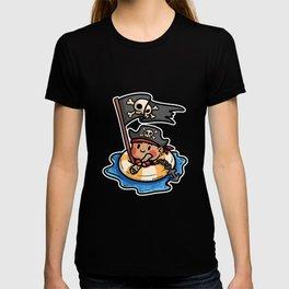 Pirate life buoy anchor treasure map Kids gift T-shirt
