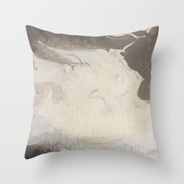 Marbled Hot Chocolate Throw Pillow