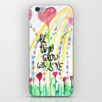 love quotes iPhone & iPod Skins featuring Love Quotes by Just Creative Julia