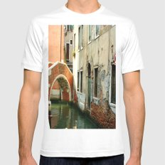 Canal Mens Fitted Tee White MEDIUM