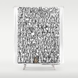 Alone in the crowd Shower Curtain