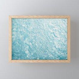 Crystal Water Marble Framed Mini Art Print