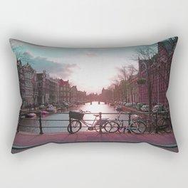 Biking in Amsterdam Rectangular Pillow