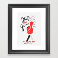 Drop The Game Framed Art Print