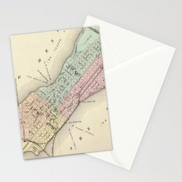 Vintage Map of Madison WI (1878) Stationery Cards