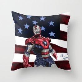 Iron Patriot Throw Pillow