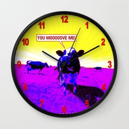 Psychedelic Cows Wall Clock