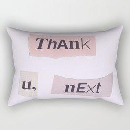 thank you next - Ariana - white Rectangular Pillow