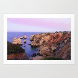 Dreamy beach sunset Art Print
