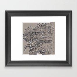 Spikey Monster Framed Art Print