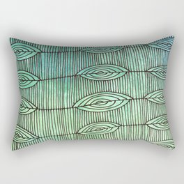 Leaf Line Optical Ilusion Rectangular Pillow