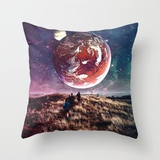 Towards New Worlds Throw Pillow