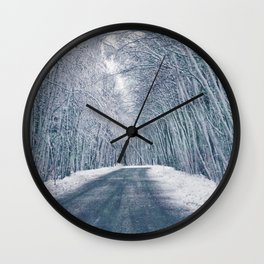 DRIVE - WAY - SNOW - PHOTOGRAPHY Wall Clock