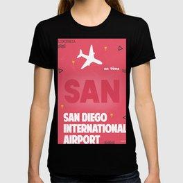 SAN San Diego airport code T-shirt